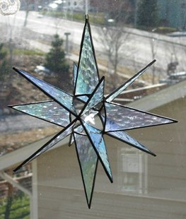 Iridescent Star with Crystal